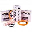 Двухжильный экранированный тонкий нагревательный кабель Woks 10, (14,6м² - 18,3м², 1455Вт)