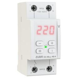 Реле напряжения ZUBR D2-63 red